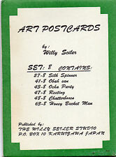 Original Early 1940's WILLY SEILER Art Postcard Set 8 (6 Total), Karuizawa Japan