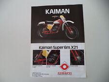 advertising Pubblicità 1979 MOTO CIMATTI KAIMAN SUPER 6M 50