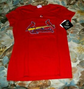 St. Louis Cardinals Boys T Shirt Youth Sz Med Molina #4 Red SS NWT $28 Majestic