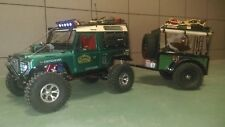 Axial scx10 1/10 rc car land rover defender d90 with trailer