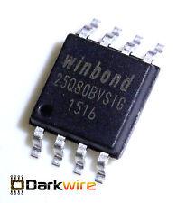 2x Winbond W25Q80BVSIG 8Mbit SPI Serial Flash 8pin SOIC 208mil 25Q80BV BIOS Mobo
