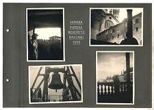 4 Fotografie VERONA PADOVA ROVERETO BASSANO 1958 OTTIMO Photograph Photo Veneto