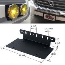 Car Van Front License Plate Installation LED Lights Bracket Support Mounting