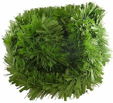 3 Metre Solid Matt Green Chunky Tinsel - Christmas Tree Decorations (T15)