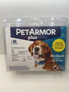 Pet Armor Plus Flea and Tick Prevention for Medium Dogs 23-44 lbs 3 appl