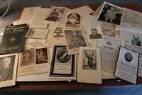 kleines Konvolut Sterbebildchen, Dokumente, religiöse Bildchen, Heft