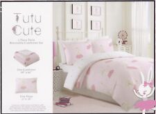 TuTu Cute 2 Pc Twin Comforter Rabbit Bunny Ballerina Pink Kids Girls Bedding