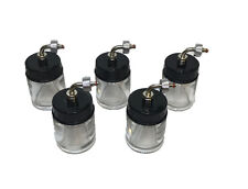 RDGTOOLS 5 X AIRBRUSH BOTTLES SIDE LOAD 22CC STANDARD FOR AIR COMPRESSOR