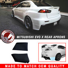 For 08-15 Lancer Evolution X EVO 10 Rear Bumper Spats Aprons - Polyurethane (PU)