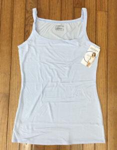 New Jockey Women's Baby Blue Soft and Comfy Cami Top Tank T-shirt Stretch Sz M