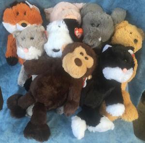 W-F-L TY Attic Treasures Selection 13in Stuffed Toy fuchs Bear Pig Teddy Monkey