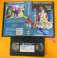 VHS film TOTO'E CLEOPATRA Fernando Cerchio Moira Orfei DOMOVIDEO (F111) no dvd