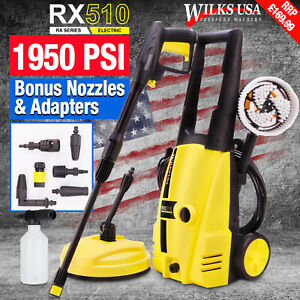 Wilks-USA Pressure Washer RX510 - 1950PSI Car / Patio Power Electric Jet Cleaner
