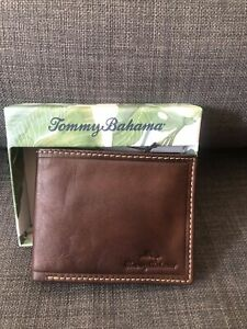 Tommy Bahama Men's Wallet Color Brown Leather.$58