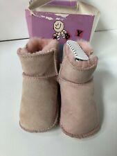 UGG Infant Erin 5202 Pink Suede, Sheepskin-Lined Baby Boots L 17-24 months