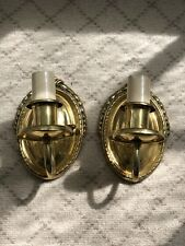 VTG Antique Reproduction Electric Brass Wall Sconces by Brass Light Gallery