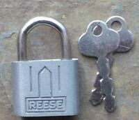 Vintage Small Reese New Old Stock  Padlock & Original  Keys