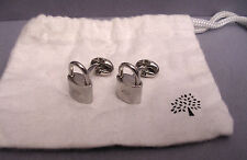 SET OF FABULOUS  COLLECABLE MULBERRY PADLOCK CUFFLINKS SILVER PLATED