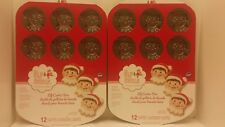 Wilton The Elf On The Shelf Cookie Pan Mold 12 Cavities Lot 2 New Holiday Cute