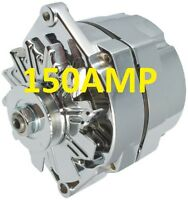 150AMP HIGH AMP CHROME ALTERNATOR SELF EXCITING 1 WIRE SYSTEM FOR CHEVY GM BUICK