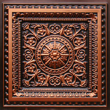 # 223 - Antique Copper 2' x 2' PVC Vinyl Decorative Ceiling Tile Glue Up/Grid