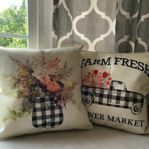 Farmhouse Checked Home Décor Pillows For Sale In Stock Ebay