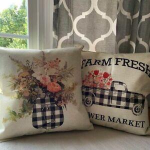 Buffalo Plaid Throw Covers Pillow Cushion Case Farmhouse Holiday Home Décor