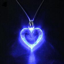 Blue Heart LED Light Magnetic Necklace Unisex