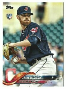 2018 Topps Update SHANE BIEBER RC Rookie Card #US198 Indians - FREE SHIPPING
