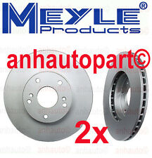 Honda Accord LX 2.4Ltr 2008-2014 Set of 2 Front Disc Brake Rotors Meyle