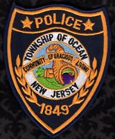 Ocean Township New Jersey Police Shoulder Patch   FREE USA SHIPPING