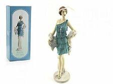 Roaring 20s Lady Azure on Stand 33cm Figurine Decorative Ornament