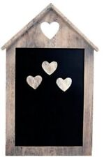 Magnetic Notice Memo Chalk House Black Board Kitchen with 3 Magnet Hearts New