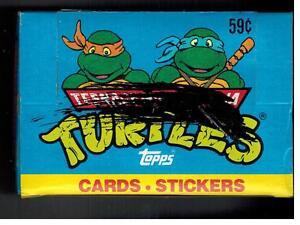 4 BOX LOT TEENAGE MUTANT NINJA TURTLES CARTOON 1989 TOPPS CELLO STICKERS CARDS