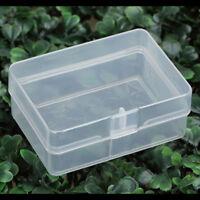 5x plastique transparent boîte de rangement caisse de collecte partie