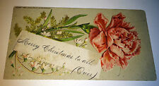 Antique Victorian American Christmas! Millers Pharmacy Advertising Trade Card!