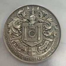 More details for 1938 round 45mm silver presentation medal token weight 44.51 grams engraved