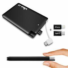 Vida vCard Power Bank Externa Cargador de batería portátil delgado de bolsillo