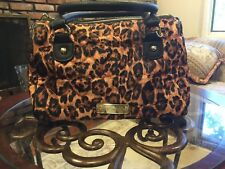 New! Betsey Johnson Leopard Black and Brown Handbag!