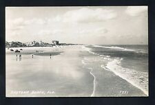 Rppc cars people tide pretty Daytona Beach Florida Volusia County photo postcard