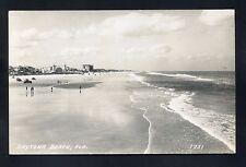RPPC cars people tide pretty Daytona Beach FLORIDA Volusia County photo postcard