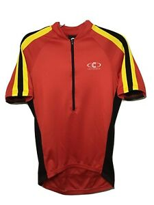 Cannondale Mens Medium Bicycle Bike Jersey Cycling Shirt Red HPX