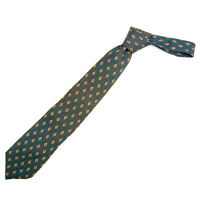 Chanel Neck Tie Green Purple Mens Authentic Used T205
