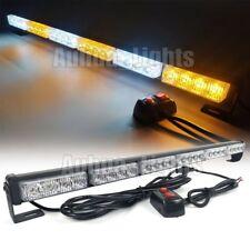 """25.6"""" Light Bar LED Traffic Advisor Emergency Beacon Warn Strobe Amber White 12V"""