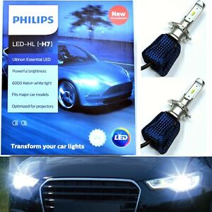 Philips Ultinon LED Kit 6000K White H7 Two Bulbs Head Light High Beam Lamp Fit