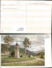 239413,Künstler AK Hugo Darnaut Maria u. Josef Bildstöckl Marterl b. Mariazell