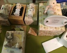 VTG Enesco Precious Moments Collection Figurines 5 Total With Boxes 1979-1989