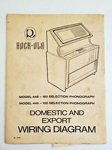 ROCK OLA MODEL 448 449 DOMESTIC AND EXPORT WIRING DIAGRAM MANUAL ROCKOLA