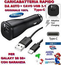 CARICA BATTERIA RAPIDO ORIGINALE SAMSUNG DA AUTO + CAVO USB 3.1 TYPE-C S8 S8+