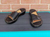 Womens BORN Wedge Sandals Size US 9 M / EUR 40.5 Leather Black
